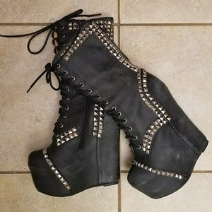 Jeffrey Campbell Epoque Studded Wedge Boot